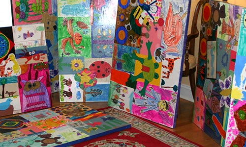 Showcasing children's artwork